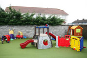 Outdoor play area at The Wombles