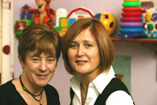 Miriam Cullen and Liz McCormack, co-owners of The Wombles